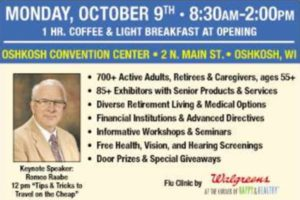 Come hear Romeo Speak at the Oshkosh Senior Expo October 9th.