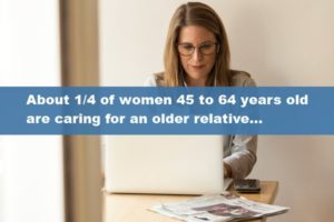 A Quarter of Women 45 to 64 Years Old are Caring for an Older Relative